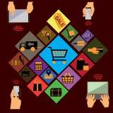Elektronischer Geschäftsverkehr 2 Vektor Abbildung