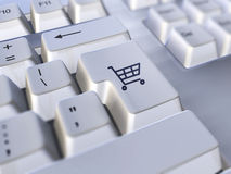 Elektronischer Geschäftsverkehr stockfotografie