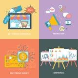 Elektronischer Geschäftsverkehr, Statistik, Förderung Stockfoto