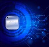 Elektronischer guter Technologiezusammenfassungs-Hintergrundvektor vektor abbildung