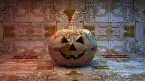 Elektronischer Halloween-Kürbis Stockbild