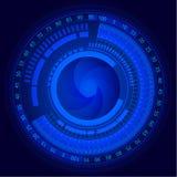 Elektronischer Kamera-Sensor und -linse mit Skala extrahieren Hintergrund lizenzfreie abbildung