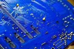 Elektronischer Leiterplatteabschluß oben Stockfoto