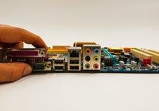 Elektronischer Leiterplatteabschluß oben Stockbilder