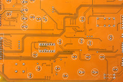 Elektronischer Mikrochip stockfoto