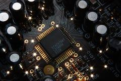 Elektronischer Mikrochip Stockbild