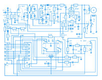 Elektronischer Plan Lizenzfreie Stockbilder