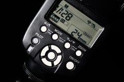 Elektronischer Systemblitz für Kamera Stockfotos