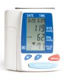 Elektronisches Blutdruckmeßinstrument Stockbild