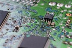 Elektronisches Brett der Nahaufnahme mit kleiner Schärfentiefe Lizenzfreie Stockfotografie