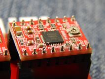 Elektronisches Brett für Laser-Graveur stockfotos