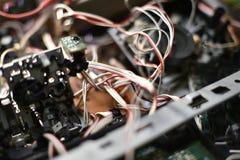 Elektronisches Brett mit Chips lizenzfreies stockbild