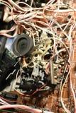 Elektronisches Brett mit Chips lizenzfreies stockfoto
