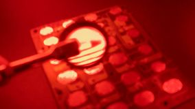 Elektronisches circuitBrett stock footage