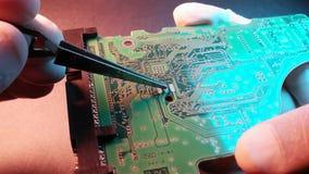 Elektronisches circuitBrett stock video