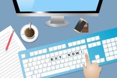Elektronisches Einkaufskonzept Stockfotos