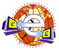 Elektronisches Geld Lizenzfreies Stockbild