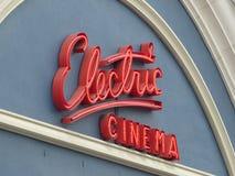 Elektronisches Kinozeichen Stockbild