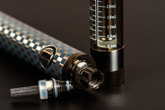 Elektronisches Zigarette vape im sortierten Blick Stockbilder