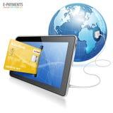 elektronisk betalning för begrepp Arkivbild