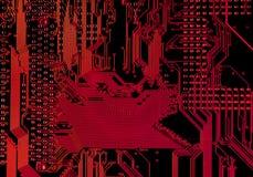 elektronisk brädeströmkrets Arkivbild