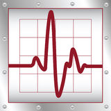 elektronisk cardiogram stock illustrationer