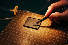 elektronisk chip royaltyfria foton