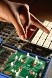 elektronisk chip Fotografering för Bildbyråer