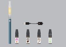 elektronisk cigarett royaltyfri illustrationer