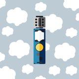 Elektronisk cigarett med molnvape Arkivbild