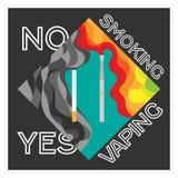 Elektronisk cigarett- och tobakfördel som vaping Royaltyfria Foton