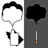 Elektronisk cigarett- och tobakfördel som vaping Fotografering för Bildbyråer