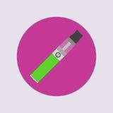 Elektronisk cigarett som vaping, dunst, vård- medicinsk enkel plan vektor Arkivbild