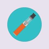 Elektronisk cigarett som vaping, dunst, vård- medicinsk enkel plan vektor Royaltyfri Foto