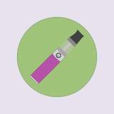 Elektronisk cigarett som vaping, dunst, vård- medicinsk enkel plan vektor Royaltyfria Bilder