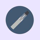 Elektronisk cigarett som vaping, dunst, vård- medicinsk enkel plan vektor Arkivfoton