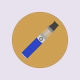 Elektronisk cigarett som vaping, dunst, vård- medicinsk enkel plan vektor Arkivfoto
