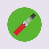 Elektronisk cigarett som vaping, dunst, vård- medicinsk enkel plan vektor Fotografering för Bildbyråer
