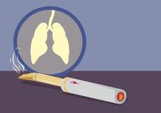 Elektronisk cigarr som röker vektorn med lungor och denfruktsaft dunsten vektor illustrationer