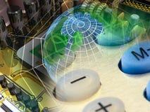 elektronisk cobweb royaltyfri illustrationer