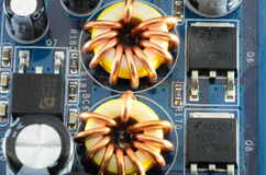 elektronisk coil Royaltyfri Bild