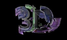 Elektronisk 3D text, 3d framför Arkivbild