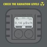 Elektronisk dosimeter Personliga kombinerade utstrålningsavkännare Arkivfoto