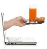elektronisk frukost Arkivbilder