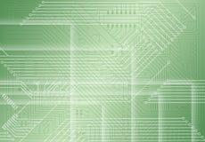 elektronisk grön industriell lampa för bakgrund Royaltyfri Fotografi
