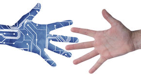 elektronisk hand Arkivbild