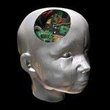elektronisk hjärna Arkivbilder