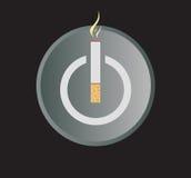 Elektronisk illustration för vektor för cigarettmaktknapp Arkivfoton