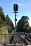elektronisk järnväg signalering arkivbild