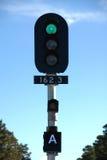 elektronisk järnväg signalering fotografering för bildbyråer